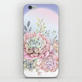 succulent full moon 5 iPhone Skin