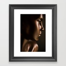 the doll from the baby blue house Framed Art Print