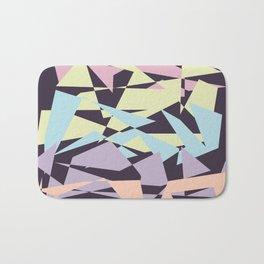 Pastel color block pattern Bath Mat