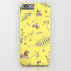 yellow corgi holidays and twigs iPhone 6s Slim Case