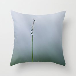 grass with drops Throw Pillow