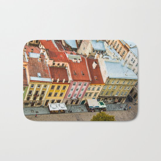 the rooftops of the city Bath Mat