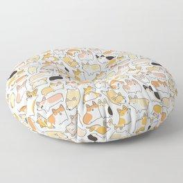 Corgilicious Corgi Doodle Floor Pillow
