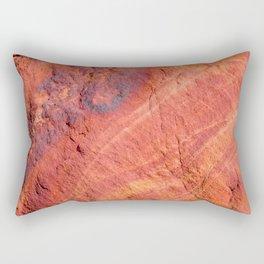 Natural Sandstone Art - Valley of Fire Rectangular Pillow