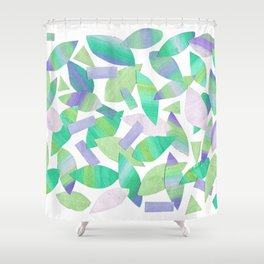 Leaf Litter (bright) Shower Curtain