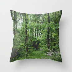 Spring Forest Throw Pillow