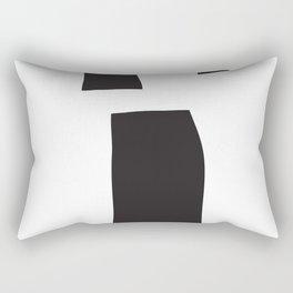 Black Blocks Rectangular Pillow