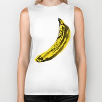 banana Biker Tanks featuring Banana by June Chang Studio