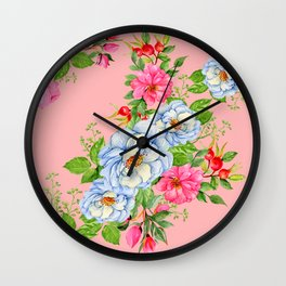 Vintage Floral Pattern No. 6 Wall Clock