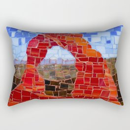 Delicate Arch - Arches National Park Utah - Stained Glass Mosaic Rectangular Pillow