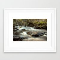 cassia beck Framed Art Prints featuring West Beck, Goathland by Martin Williams
