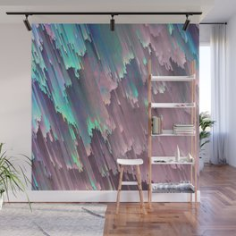 Iridescent Shadows Glitches Wall Mural