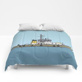 Tug or towing boat Comforters