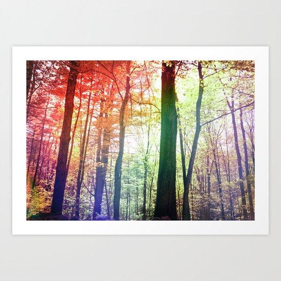 Forest Friends 2.0 Art Print