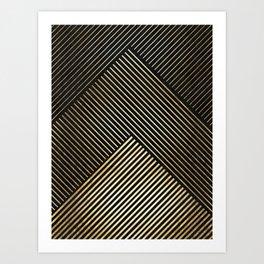Golden polygon XV Art Print