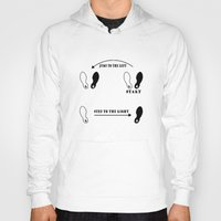 rocky horror picture show Hoodies featuring TIME WARP DANCE STEPS Rocky horror picture show by KickPunch