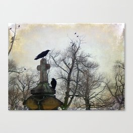 A Gatherng Of Crows Canvas Print