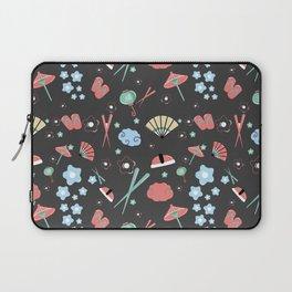 Oriental pattern_black_ version Laptop Sleeve
