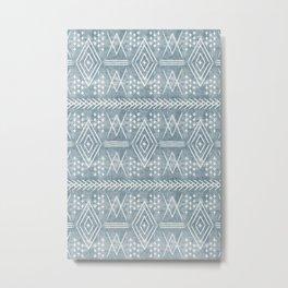 vintage moroccan - dusty blue Metal Print