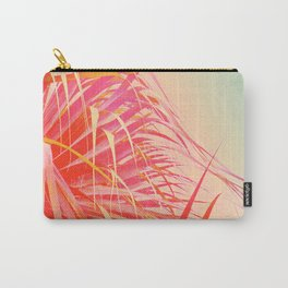Living Coral Feather Palm Carry-All Pouch