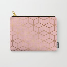 Pink and Gold Geometry 011 Carry-All Pouch
