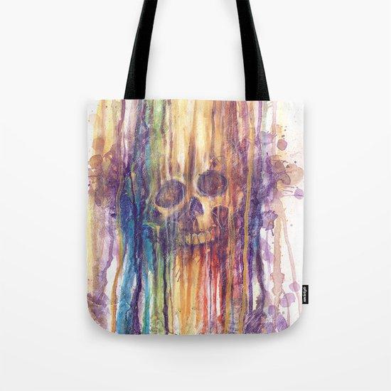 RAINBOW SKULL Tote Bag