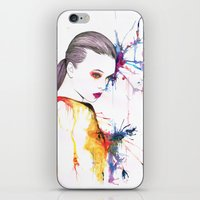 beth hoeckel iPhone & iPod Skins featuring Beth by Amy Jane Eaton