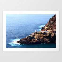 Newfoundland Canadian National Historical Site Fort Amherst and WWII bunkers Art Print