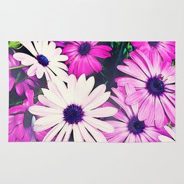 251 - Pink and White Flowers Rug