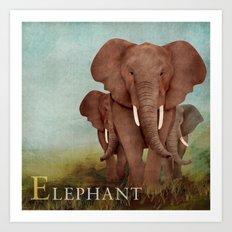 ABC Poster E - Elephant Art Print