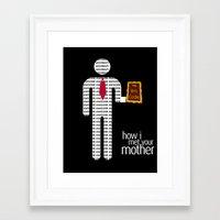 how i met your mother Framed Art Prints featuring How I Met Your Mother Bro Code by Josh Goldman