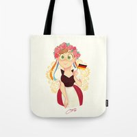 germany Tote Bags featuring Germany by Melissa Ballesteros Parada
