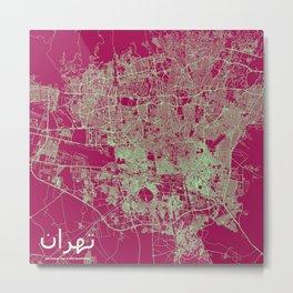 Tehran, Iran street map Metal Print