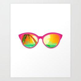 Beach Please - sun glasses for the beach Art Print