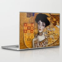 gustav klimt Laptop & iPad Skins featuring klimt by Antonio Lorente