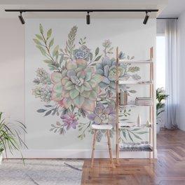 succulent watercolor 8 Wall Mural