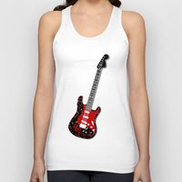 music notes Tank Tops featuring Music Notes Electric Guitar by GBC Design