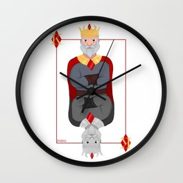 King Deck Cards Wall Clock
