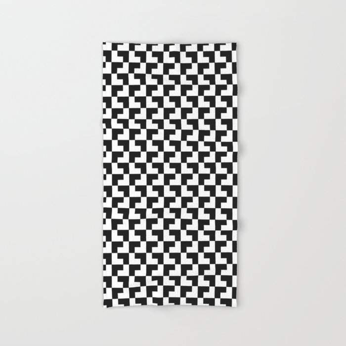 Black and White Tessellation Pattern - Graphic Design Hand & Bath Towel
