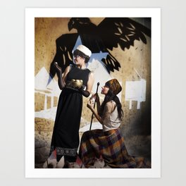 The Feather of Finest the Falcon Art Print