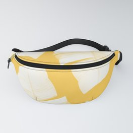 Tropical Yellow Banana Leaves Vibes #1 #decor #art #society6 Fanny Pack