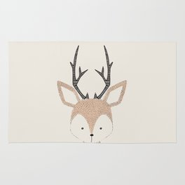Baby Deer Woodland Animals Cute Fawn Rug