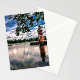 Moritzburg Lighthouse by Jeanpaul Ferro Stationery Cards