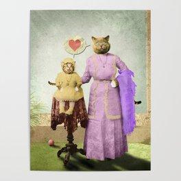 Momma Kitty Loves Her Kitten Poster