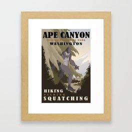 CPS: Ape Canyon, WA Framed Art Print