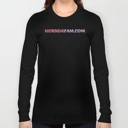 HorrorFam.com URL Text Long Sleeve T-shirt