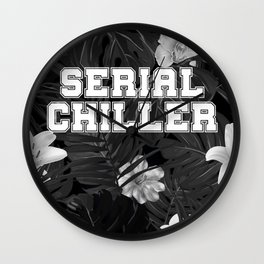 Gray serial chiller Wall Clock