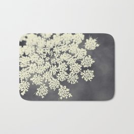 Black and White Queen Annes Lace Bath Mat