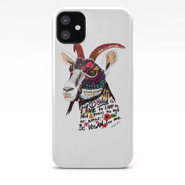 Go vegan goat - my body is mine to live in iPhone Case