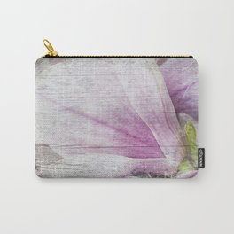 Magnolia Flower  on old wood Carry-All Pouch